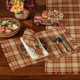 Gather Plaid Placemats Terra Cotta Set of Four