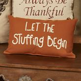 Let Stuffing Begin Rectangle Accent Pillow Terra Cotta