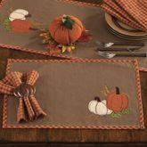 Pumpkin Patch Placemats Terra Cotta Set of Four
