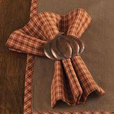 Pumpkin Patch Plaid Napkins Terra Cotta Set of Four
