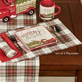 Through the Woods Placemats Red Set of Four