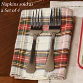 Through the Woods Napkins Red Set of Four