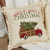 Woody Holiday Accent Pillow Red