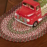Holly Berry Braided Table Runner Red 15 x 54