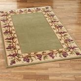 Napa Grape Border Wool Area Rugs