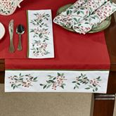 Simply Holly Table Runner Red 15 x 72