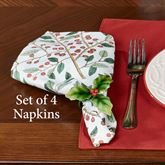 Simply Holly Napkins Red Set of Four