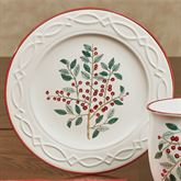 Simply Holly Dessert Plates White Set of Four
