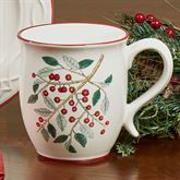 Simply Holly Mugs White Set of Four
