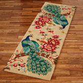 Peacock Garden Rug Runner Straw 26 x 8