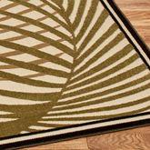 Palm Areca Square Rug 76 Square
