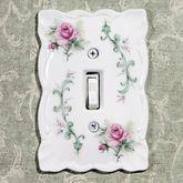 Rose Porcelain Single Switch