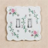 Rose Porcelain Double Switch