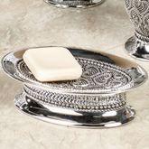 Beaded Heart Soap Dish Silver