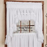 Madelyn Ruffled Swag Valance Pair 80 x 38