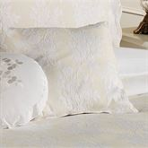 Floral Medley Tailored Square Pillow 18 Square