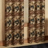 Paragon Grommet Curtain Pair Multi Warm 84 x 84