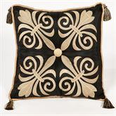 Onyx Empire Piped Square Pillow