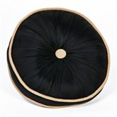 Onyx Empire Piped Round Pillow