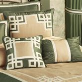 Wynhurst Piped European Sham Green Amber European