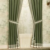 Wynhurst Tailored Curtain Pair Green Amber 84 x 84