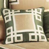 Wynhurst Piped Square Pillow Green Amber 18 Square