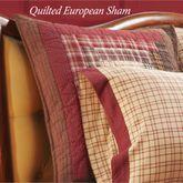 Tacoma Patchwork Quilted European Sham Crimson