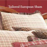 Tacoma Flanged Tailored Sham Crimson European