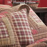 Tacoma Flanged Tailored Pillow Crimson 16 Square