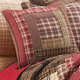 Tacoma Quilted Pillow Crimson 16 Square