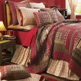 Tacoma Patchwork Quilt Crimson