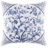 Charlotte Embroidered Pillow White 16 Square