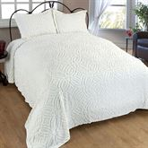 Wedding Ring Bedspread Light Cream