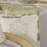 Marigold Ruffled European Sham Pale Green European