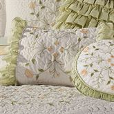 Marigold Ruffled Rectangle Pillow Ivory Rectangle