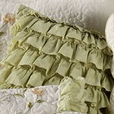 Marigold Ruffled Square Pillow Pale Green 16 Square