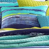 Cordoba Teal Striped Tailored Pillow Teal 18 Square