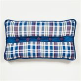 Stratton Pieced Tailored Pillow Indigo Rectangle