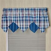 Stratton Layered Valance Indigo 60 x 18