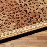 Leopard Rug Runner Black Brown
