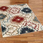 Cicilia Floral Rectangle Rug Multi Warm