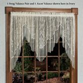 Queens Lace Swag Valance Pair 56 x 38