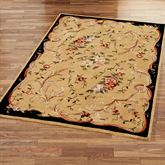 Floral Scroll Rectangle Rug