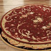 Floral Scroll Round Rug