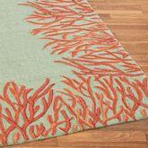 Coral Reef Rug Runner Orange 2 x 8