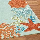 Ocean Scene Rug Runner Spring Green 2 x 8