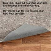 Duo Lock Rectangle  Rug Pad