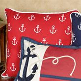 Anchor Embroidered Pillow 20 Square