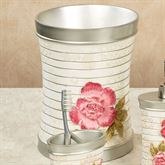 Spring Rose Wastebasket Light Cream