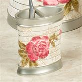 Spring Rose Toothbrush Holder Light Cream